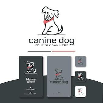ショールのロゴデザインがかわいい幸せな犬