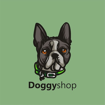 Doggy shop mascot logo