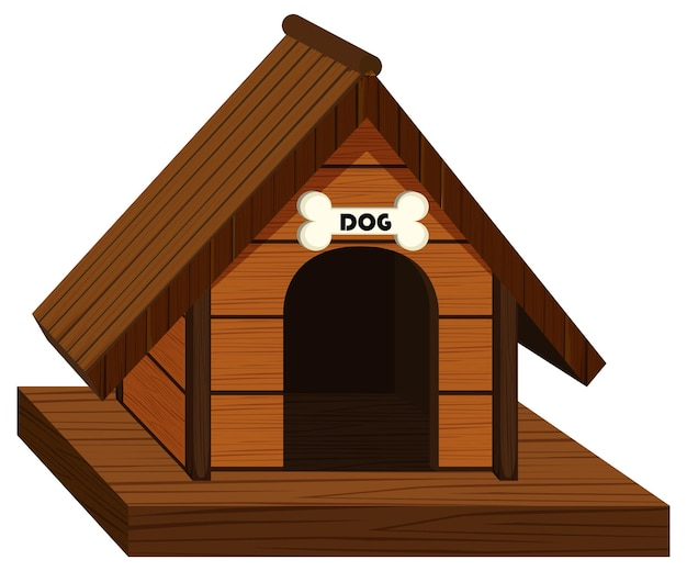 Doghouse made of wood