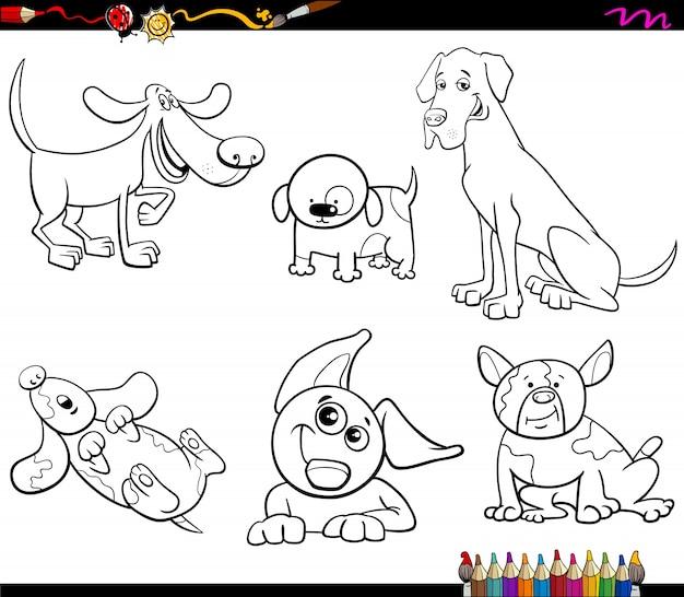 Собаки мультфильм раскраски