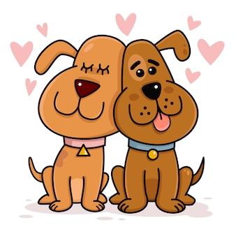 愛の犬のカップル