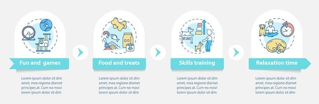 Шаблон инфографики услуг дневного лагеря собак
