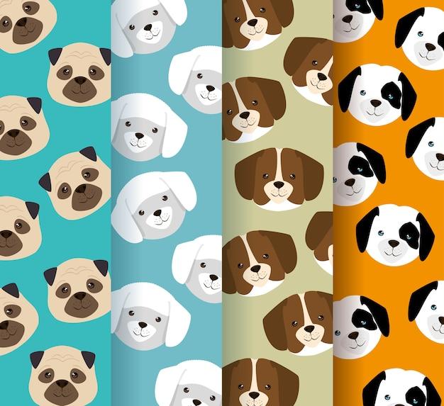 犬の頭はペットのパターン