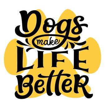 Собаки делают жизнь лучше рука надписи