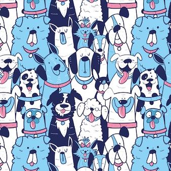 Собаки бесшовные шаблон