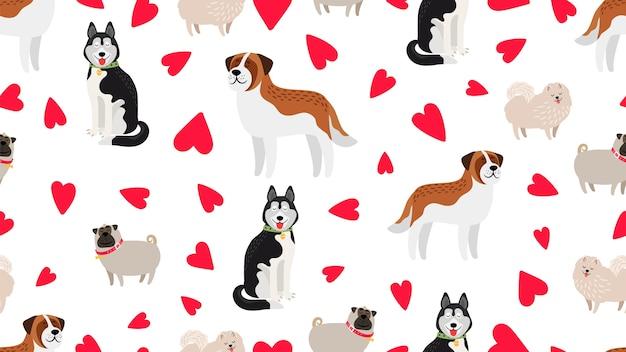 犬のシームレスなパターン。