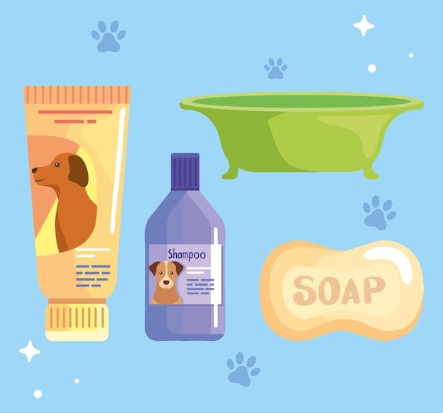 Шампунь для собак и мыло значки