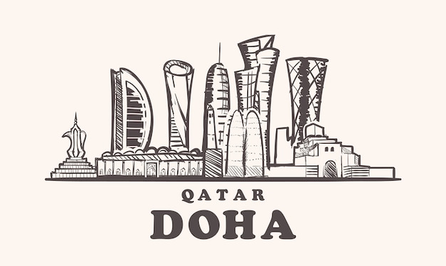 Doha cityscape, qatar