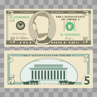 Dollar banknotes, us currency money bills