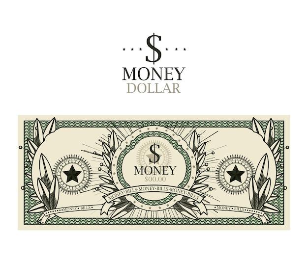 Dollar bill  isolated design