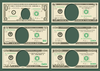 Dollar currency notes vector money