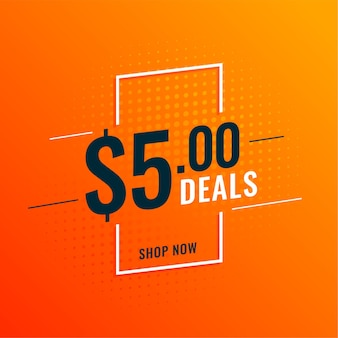 Dollar deals and offers banner