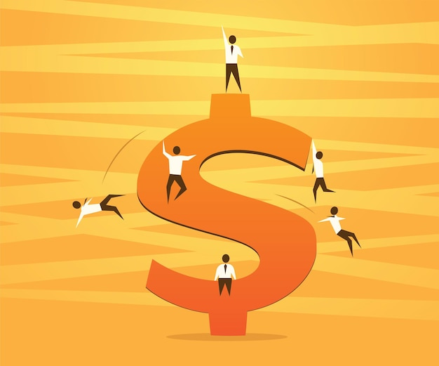 달러 기호 및 성공 경쟁