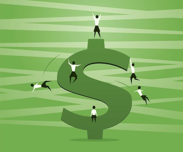 ドル記号の競争と女性の成功
