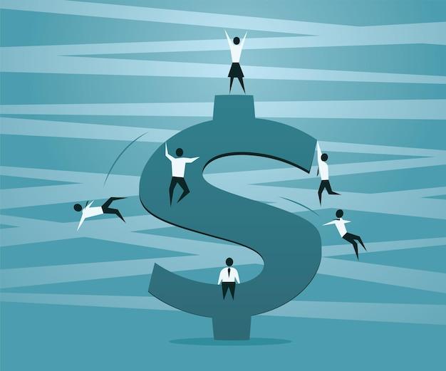 ドル記号の競争と女性対男性の成功