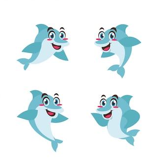 イルカ動物キャラクターマスコット漫画