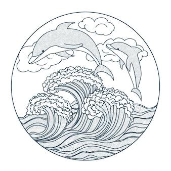 イルカのアイコン