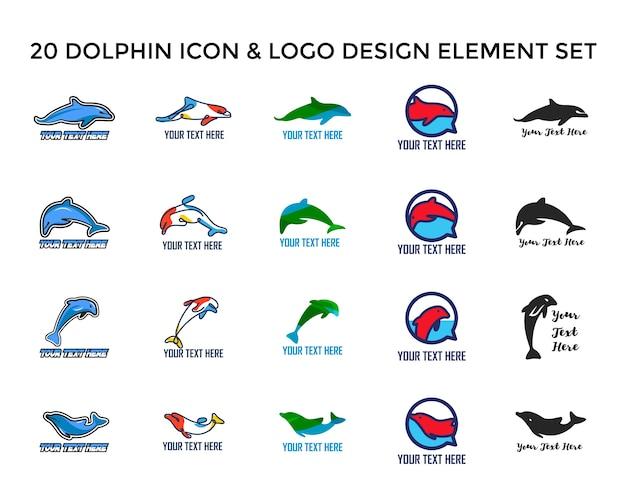 Дизайн логотипа dolphin icon
