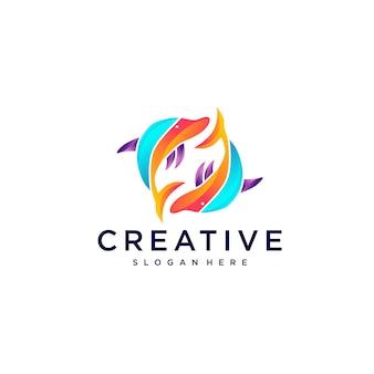 Дельфин дизайн логотипа