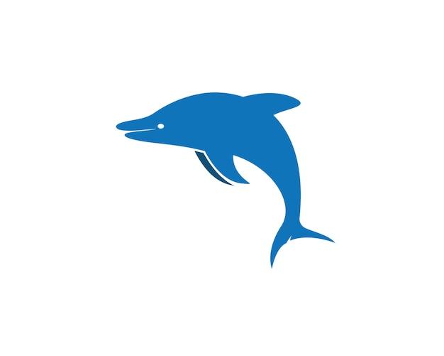 Dolphin logo icon vector