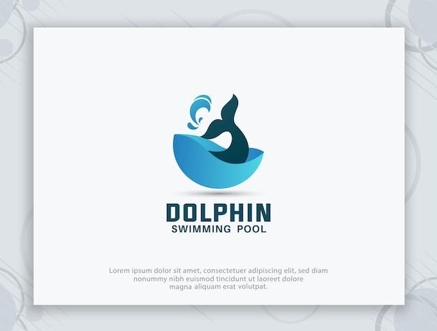 Дизайн логотипа бассейна дельфинов