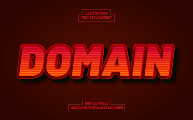 Domain 3d bold text style effect