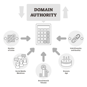 Domain authority educational outline diagram