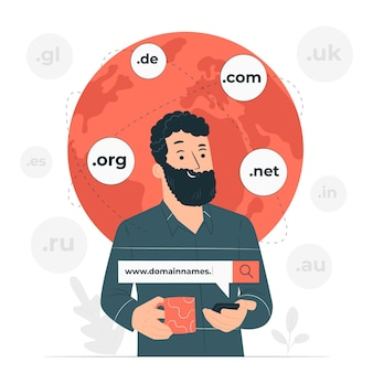 Domain names concept illustration