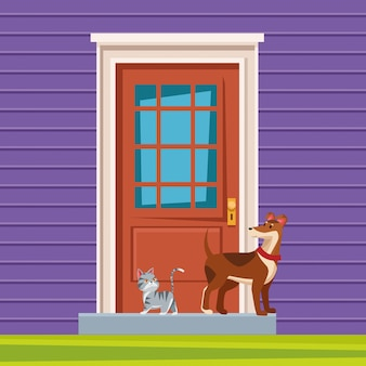 Domestic animals and pet icon