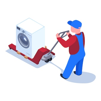 Domestic appliances delivery  illustration