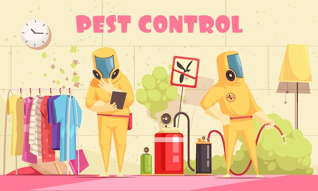 Domestic pest control background
