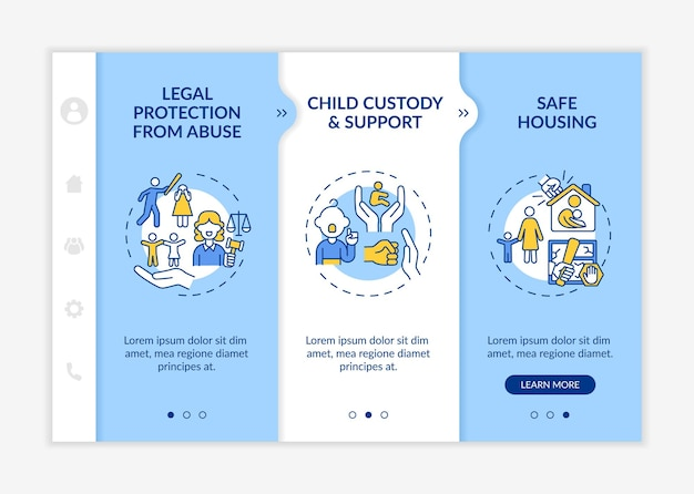 Domestic violence survivors support onboarding template