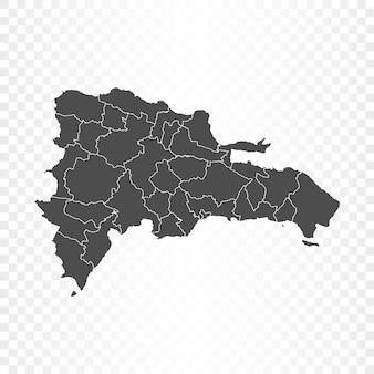 透明に分離されたドミニカの地図