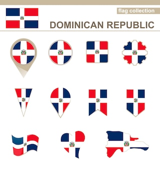 Dominican republic flag collection, 12 versions