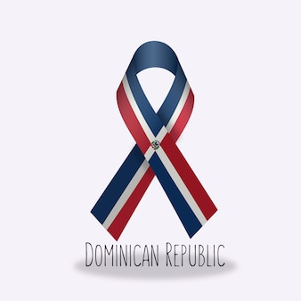 Dominican republic flag ribbon design