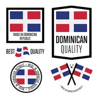 Dominican republic quality label set