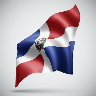 Dominican republic, vector 3d flag isolated on white background