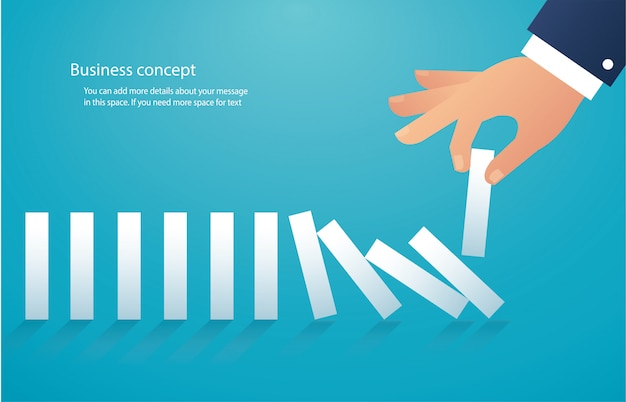 The domino effect. business concept
