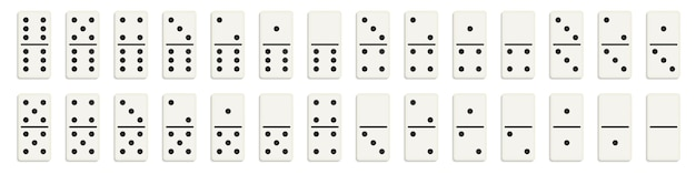 Domino full set, dominoes bones, 28 pieces.