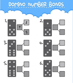 Domino number bonds worksheet