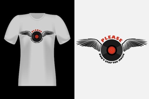 Не останавливайся, музыка, рисованный стиль, винтажный дизайн футболки
