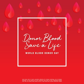 Donate blood concept for world blood donor day-june 14.