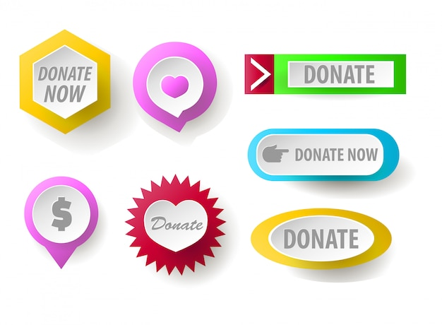 Donate button collection