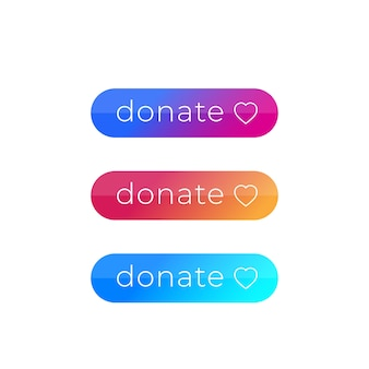 Donate buttons set
