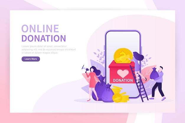 Пожертвовать онлайн отличный дизайн для любых целей концепция благотворительности абстрактный зеленый веб-баннер