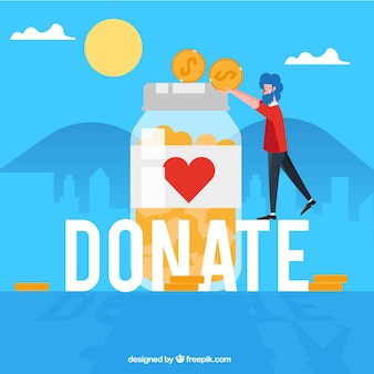 Donate word concept
