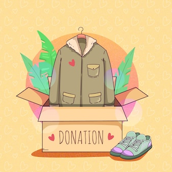 Donating their clothes to those in need