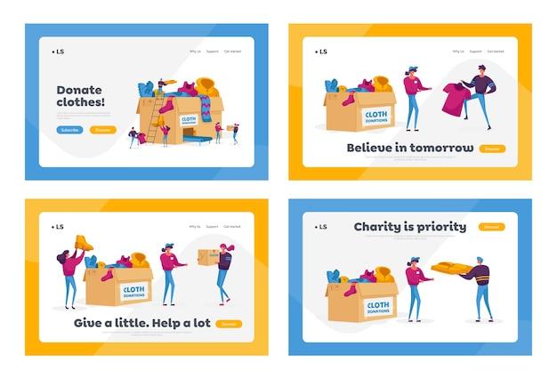 寄付および慈善団体のランディングページテンプレートセット