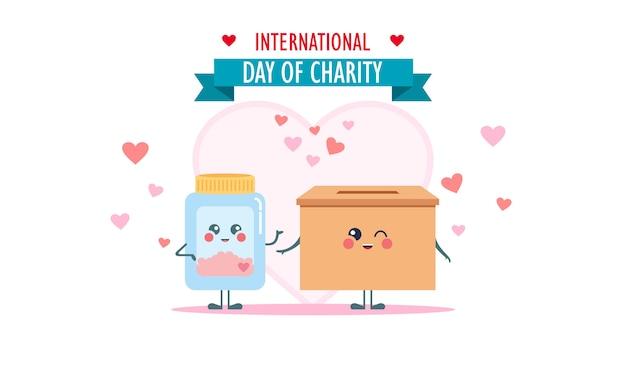 자선 삽화의 국제의 날 기부