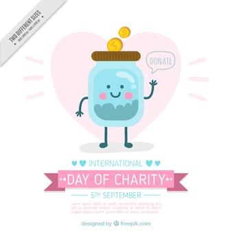 慈善団体の国際的な日に寄付